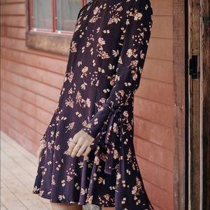 Amour Vert Floral Silk Dress